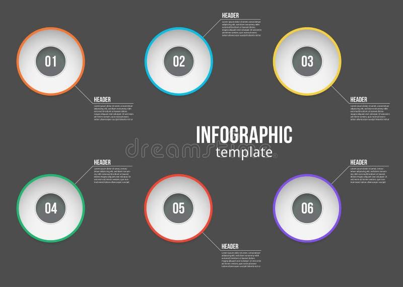 传染媒介例证Infographic与选择或步的设计模板 对过程,介绍,布局,横幅,信息 向量例证
