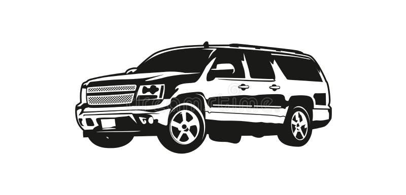 传染媒介例证SUV或越野车 库存例证