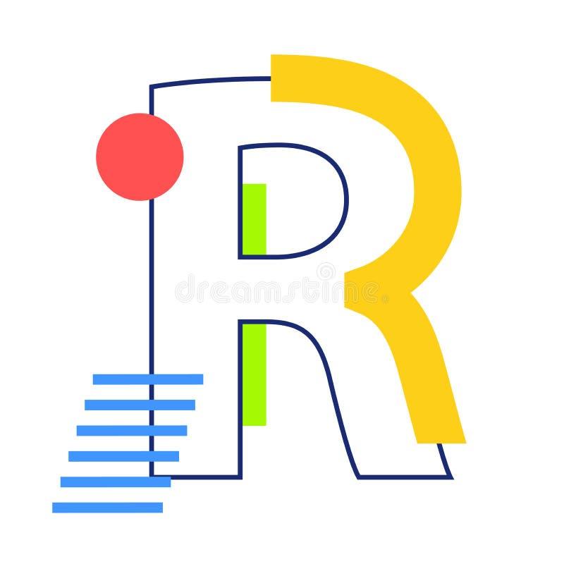 传染媒介信件R 库存例证
