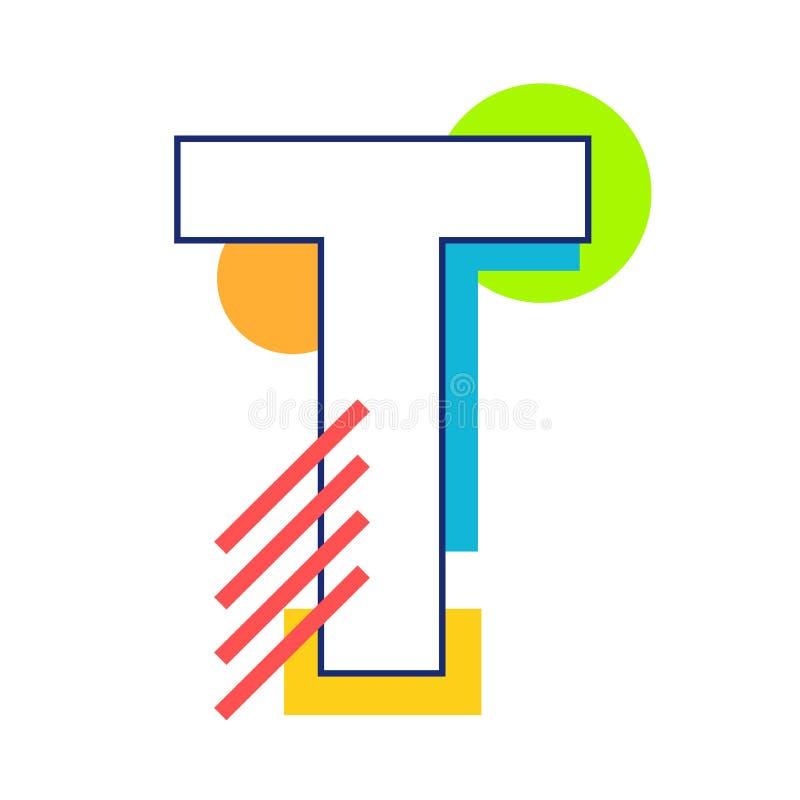 传染媒介信件T 向量例证