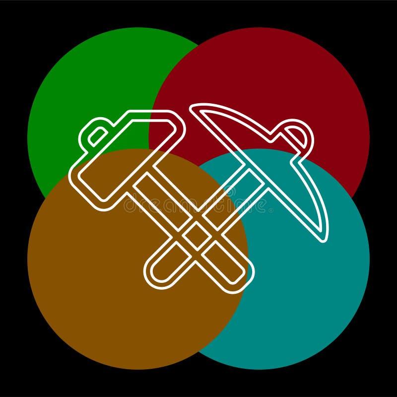 传染媒介修理工具标志木匠业工作设备 皇族释放例证