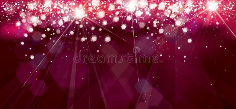 传染媒介假日,红色,闪闪发光背景 皇族释放例证
