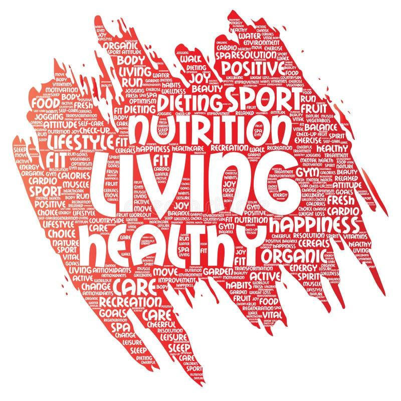 传染媒介健康生存正面营养体育 皇族释放例证