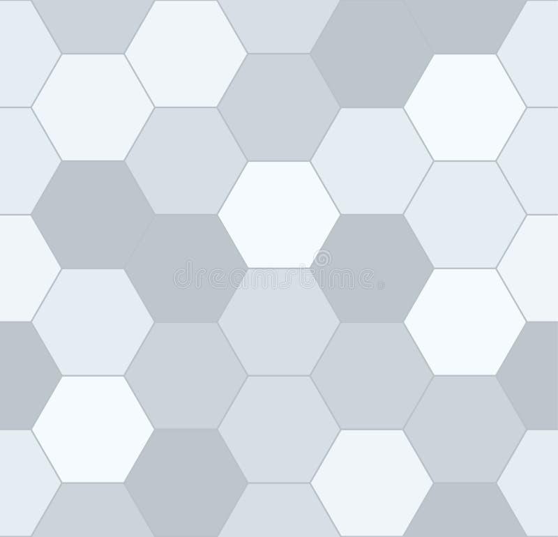 传染媒介六角无缝的样式背景 库存照片
