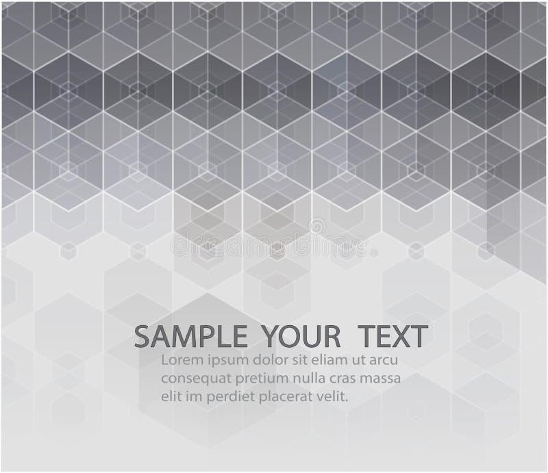 传染媒介六角背景 与线和小点的数字式几何抽象 几何抽象装饰设计的要素 向量例证