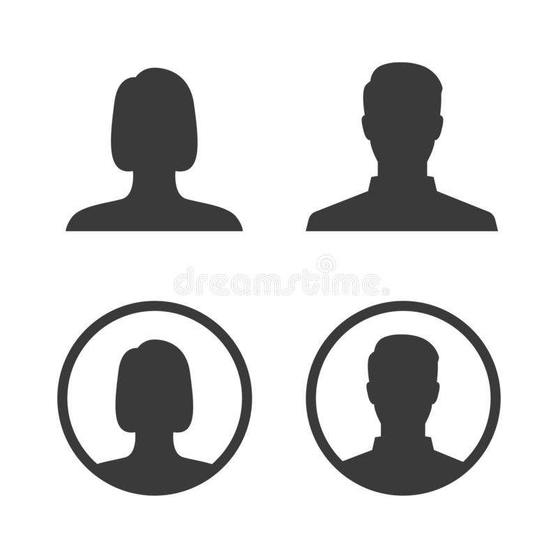 传染媒介具体化象profil图片 皇族释放例证