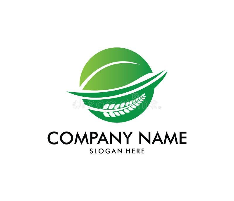传染媒介农业的,农学,麦子农场,农村国家农田,自然收获商标设计 库存例证