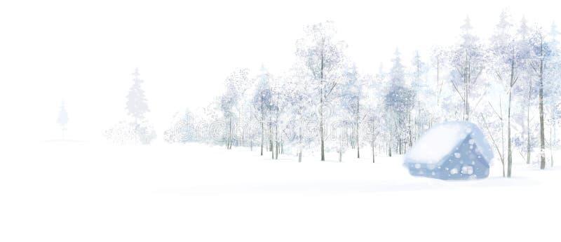 传染媒介冬天场面 库存例证