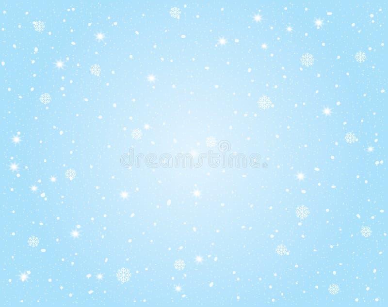 传染媒介冬天风景有天空和雪背景 向量例证
