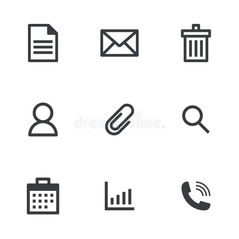 传染媒介办公室象 传染媒介线象 文件邮件垃圾箱和其他象 库存例证