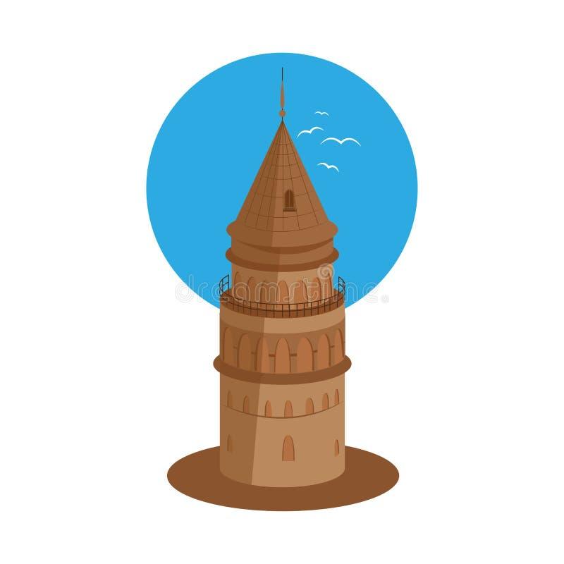 传染媒介加拉塔石塔 向量例证