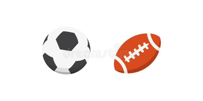 传染媒介动画片五颜六色的球集合 体育球象 向量例证