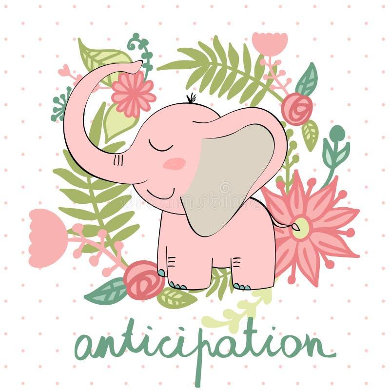 传染媒介动画片大象 皇族释放例证