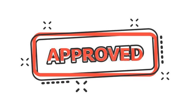 传染媒介动画片批准了封印在可笑的样式的邮票象 附属品 向量例证