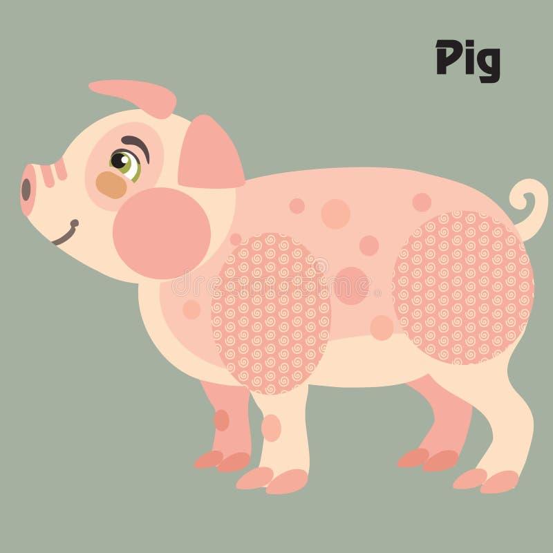 传染媒介动画片猪 皇族释放例证