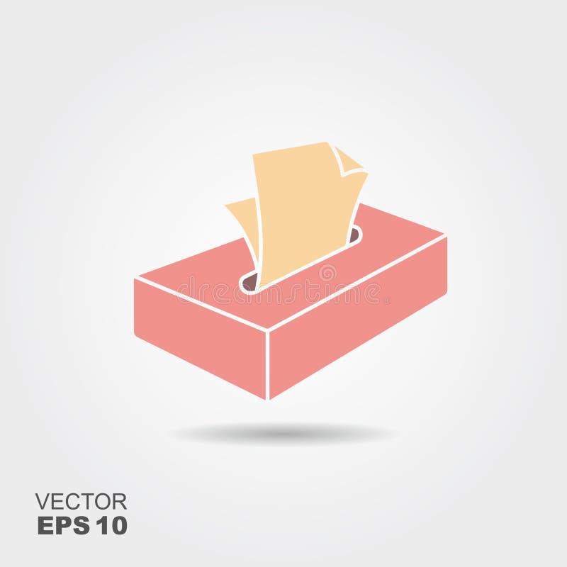 传染媒介动画片组织箱子 向量例证