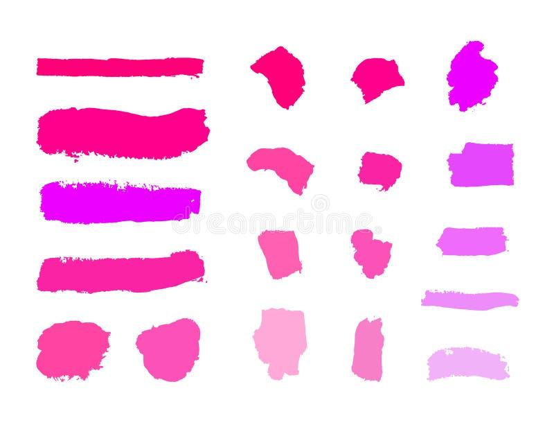 传染媒介化妆空白的样品,套不同的口气,在白色背景组成冲程 向量例证