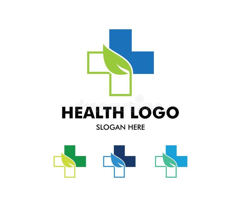 传染媒介医疗保健的,家庭健康诊所医生,健康中心,药店,诊所商标设计, 库存例证