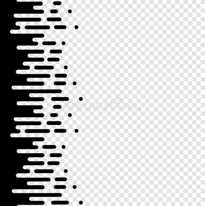 传染媒介半音转折摘要墙纸样式 被环绕的无缝的黑白涨落不定排行背景 皇族释放例证