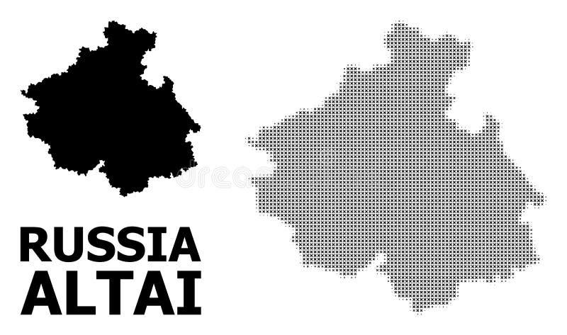 传染媒介半音马赛克和阿尔泰共和国坚实地图  向量例证