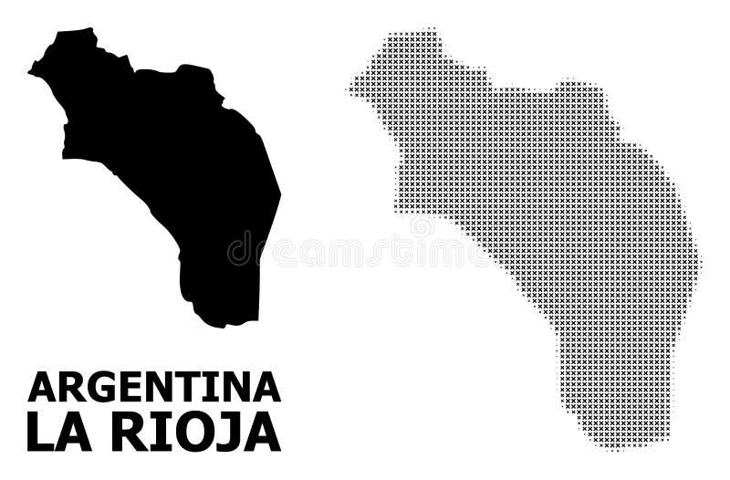 传染媒介半音马赛克和阿根廷-拉里奥哈坚实地图  向量例证