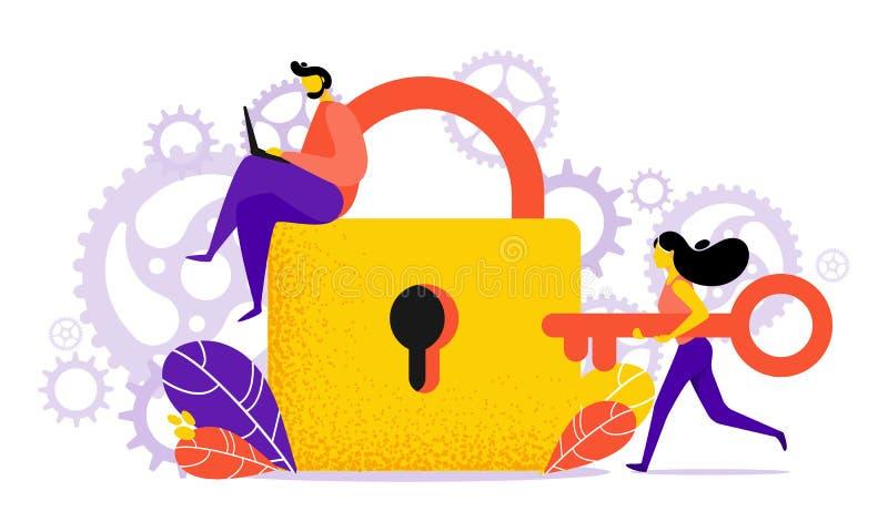 传染媒介危险的概念例证或错误签到平的样式 库存例证