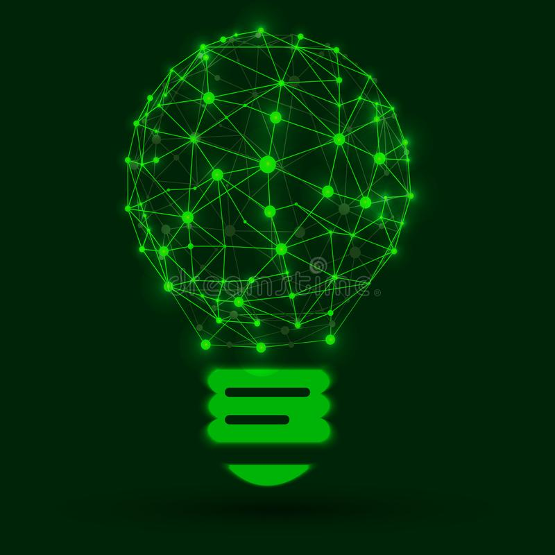 传染媒介发光的例证:风格化导线框架电灯泡 向量例证