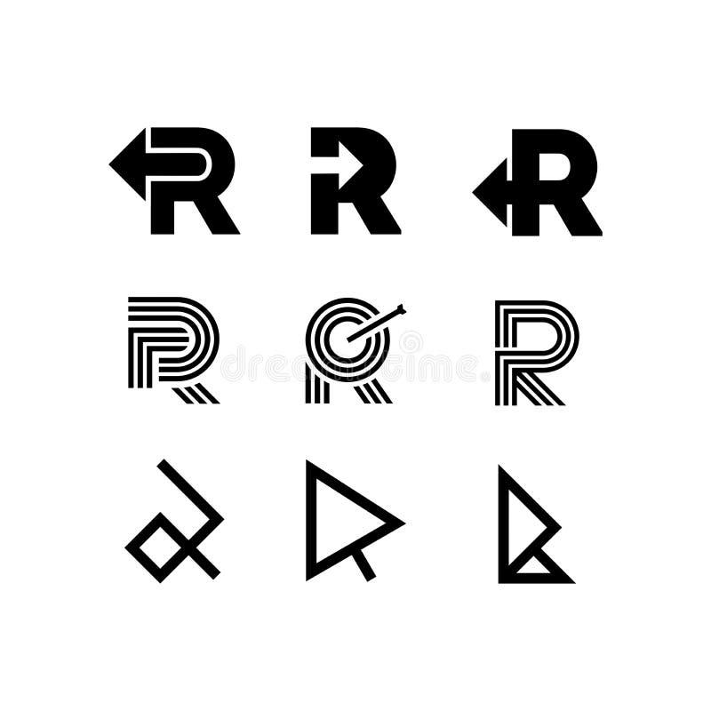 传染媒介商标信件R箭头 向量例证