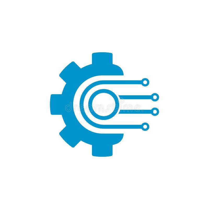 传染媒介商标技术概念例证 库存例证