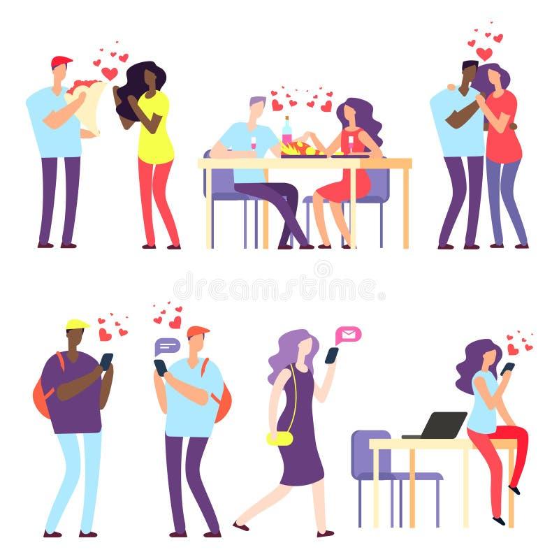 传染媒介国际网上约会,国际关系概念 向量例证