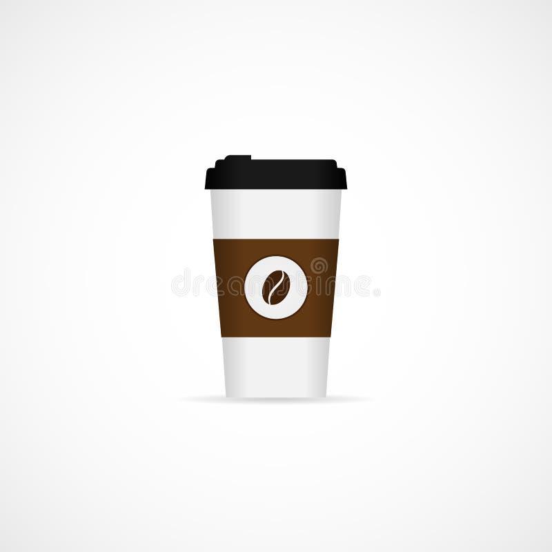传染媒介图象现实纸咖啡杯 向量例证