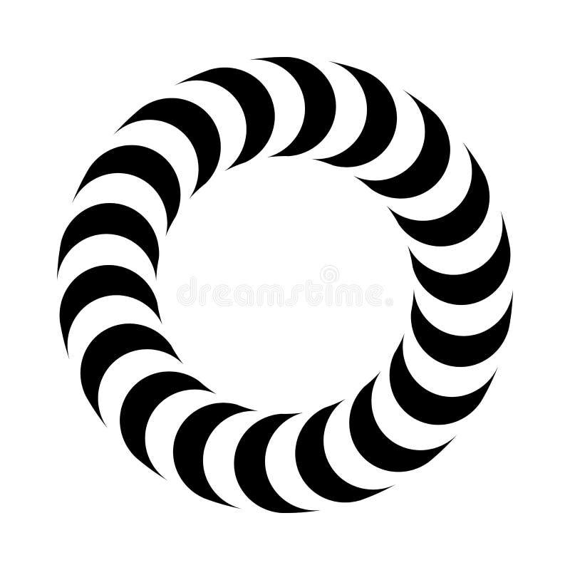 传染媒介圆环-容量错觉  皇族释放例证