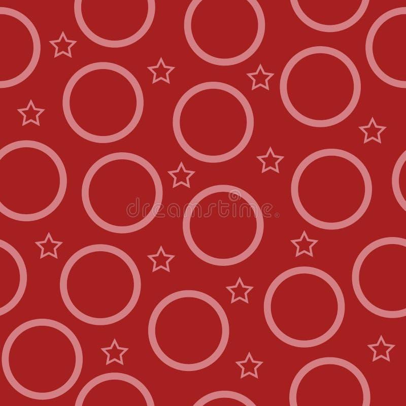 传染媒介圈子和星形状无缝的样式 向量例证