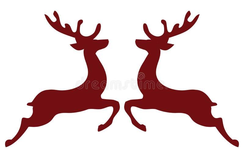 传染媒介圣诞节驯鹿假日背景 库存例证