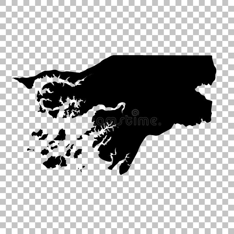 传染媒介地图几内亚比绍 r r 免版税库存照片