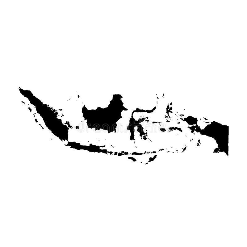 传染媒介地图印度尼西亚 被隔绝的例证 r 库存图片