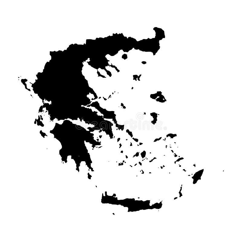 传染媒介地图希腊 r r 免版税库存照片