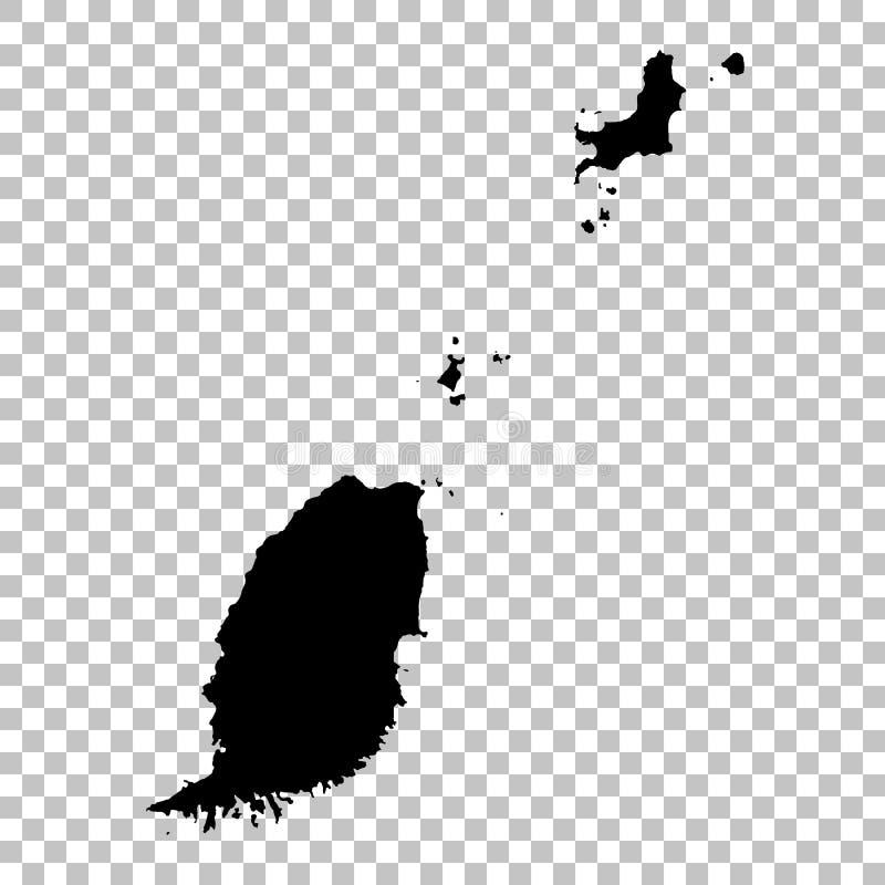 传染媒介地图格林纳达 r r 免版税库存照片