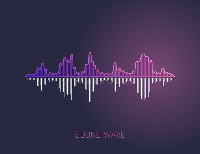 传染媒介声波 党的, DJ,客栈,俱乐部,迪斯科五颜六色的声波 音频调平器技术 向量 向量例证