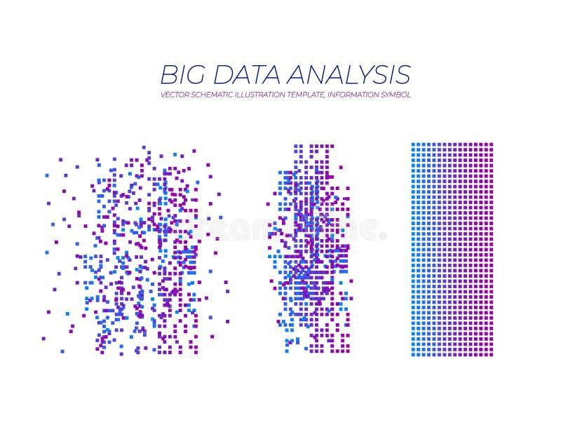 传染媒介大数据分析:聪明的经营计划的, Minimalistic设计Infographics逻辑分析方法 库存例证