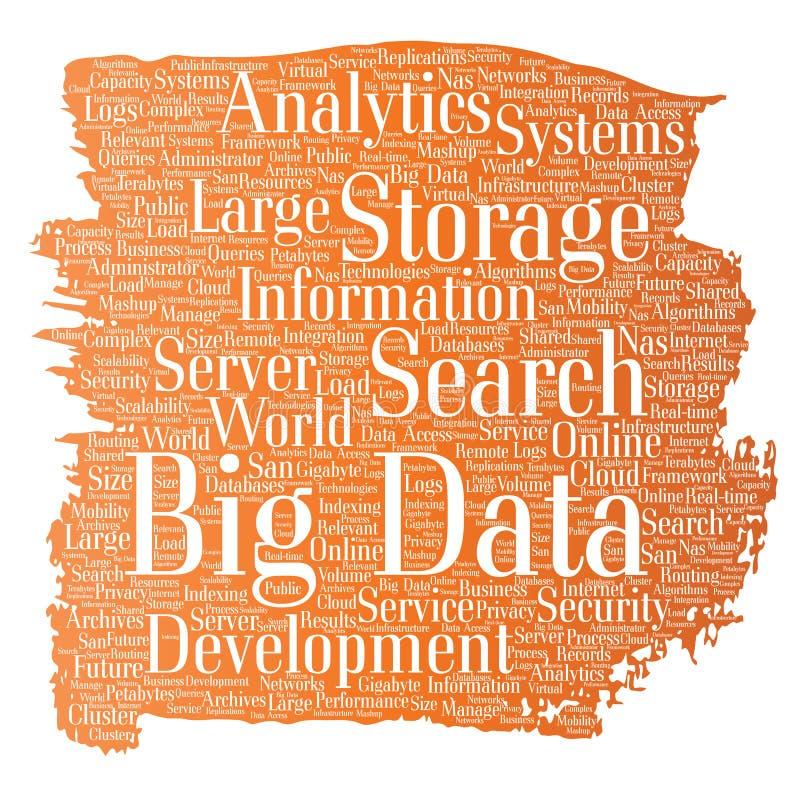 传染媒介大数据大号存贮系统 库存例证