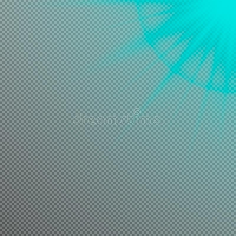 传染媒介太阳光线影响 透镜火光光 向量例证