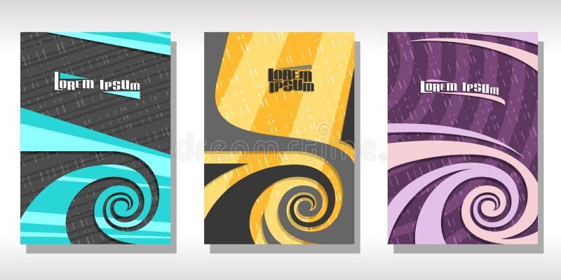 传染媒介套五颜六色的盖子 库存例证
