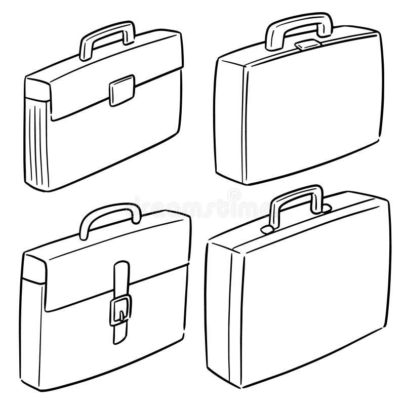 传染媒介套公文包 向量例证