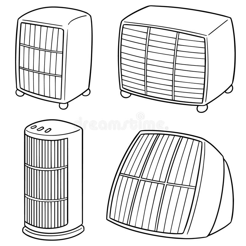 传染媒介套加热器 向量例证
