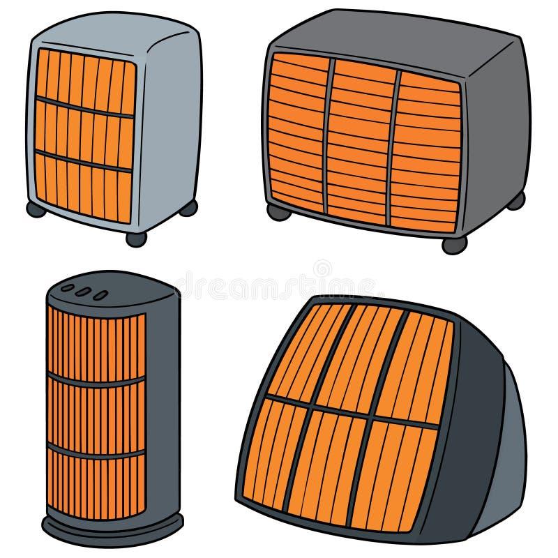 传染媒介套加热器 库存例证