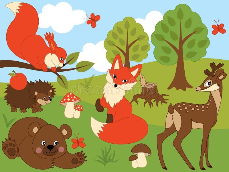 传染媒介套森林动物图片