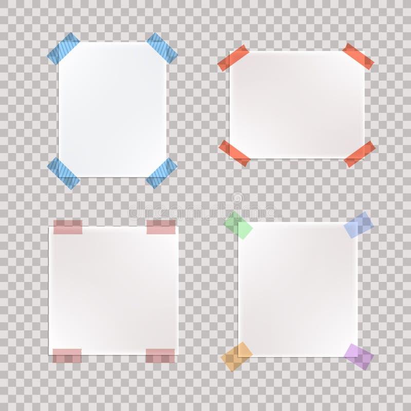传染媒介套现实录音的纸片断 向量例证