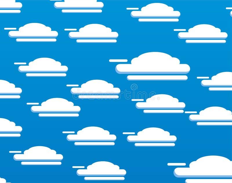 传染媒介套蓝色背景云彩 库存照片