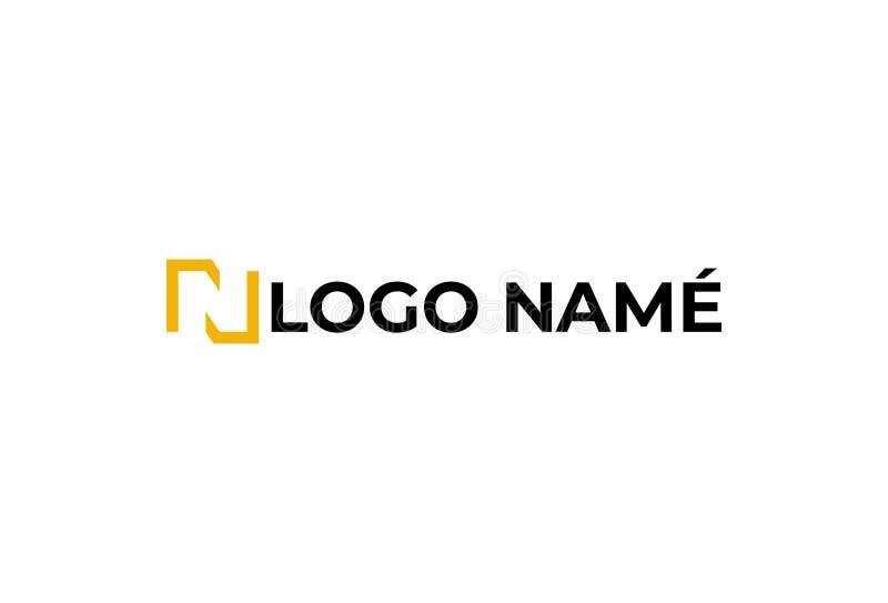 传染媒介字母N商标设计 皇族释放例证